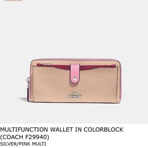 Coach Multifunction Wallet in Colorblock